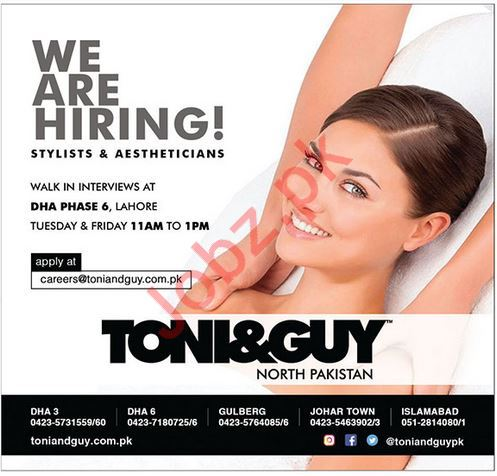 Stylists & Aestheticians Jobs 2019 in Lahore