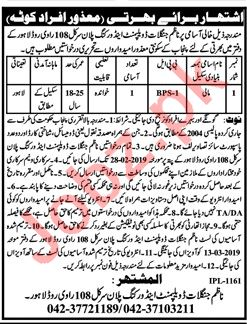 Forest Wildlife & Fisheries Department Lahore Jobs 2019