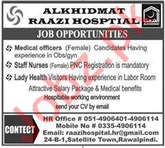 Alkhidmat Raazi Hospital Medical Jobs in Rawalpindi
