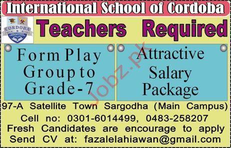 Teaching Jobs in International School or Cordoba