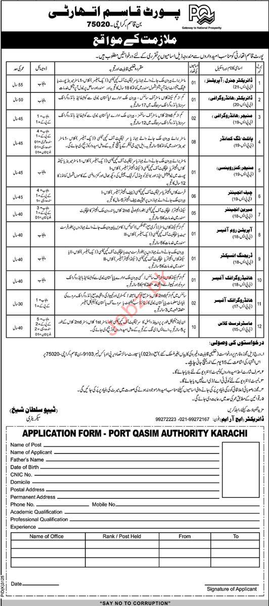 Management Staff Jobs in Port Qasim Authority