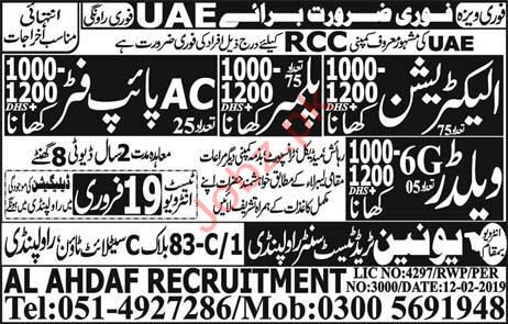 RCC Contracting Company Jobs 2019 For UAE
