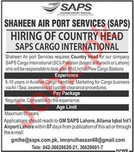 Shaheen Airport Services Country Head Jobs