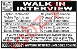 Laptop Technician Jobs at Holistic Technologies