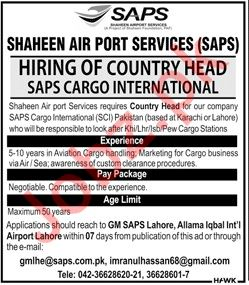 Country Head Job in Karachi, Lahore, Islamabad & Peshawar