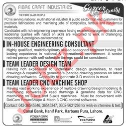 Fibre Craft Industries In House Engineering Consultant Jobs
