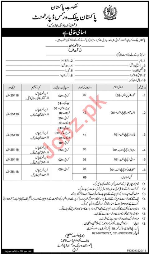 Pakistan Public Works Department Islamabad Jobs 2019