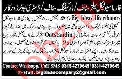 Marketing Staff, Pharmaceutical Staff & Distributor Jobs