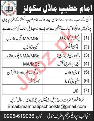 Imam Hatip Schools Teachinf Staff Jobs 2019