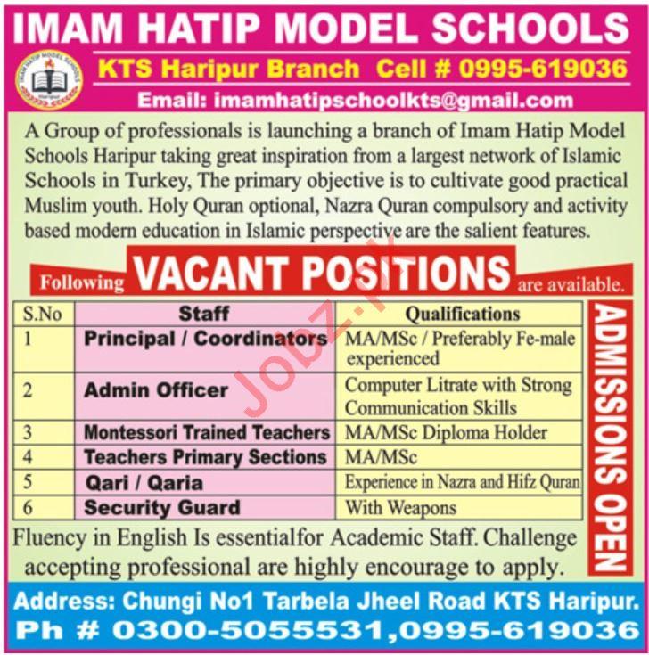 Imam Hatip Model Schools Teaching Staff Jobs 2019