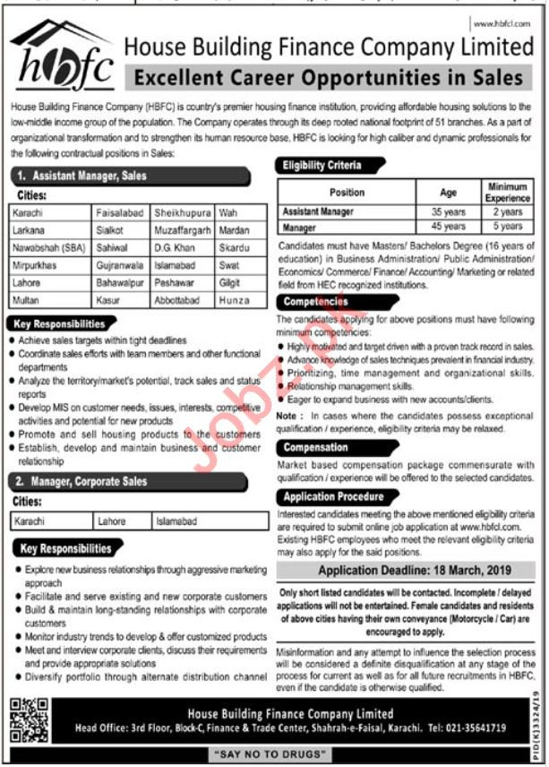 HBFCL House Building Finance Company Limited Jobs 2019