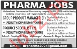 Product Manager Jobs in Pharma