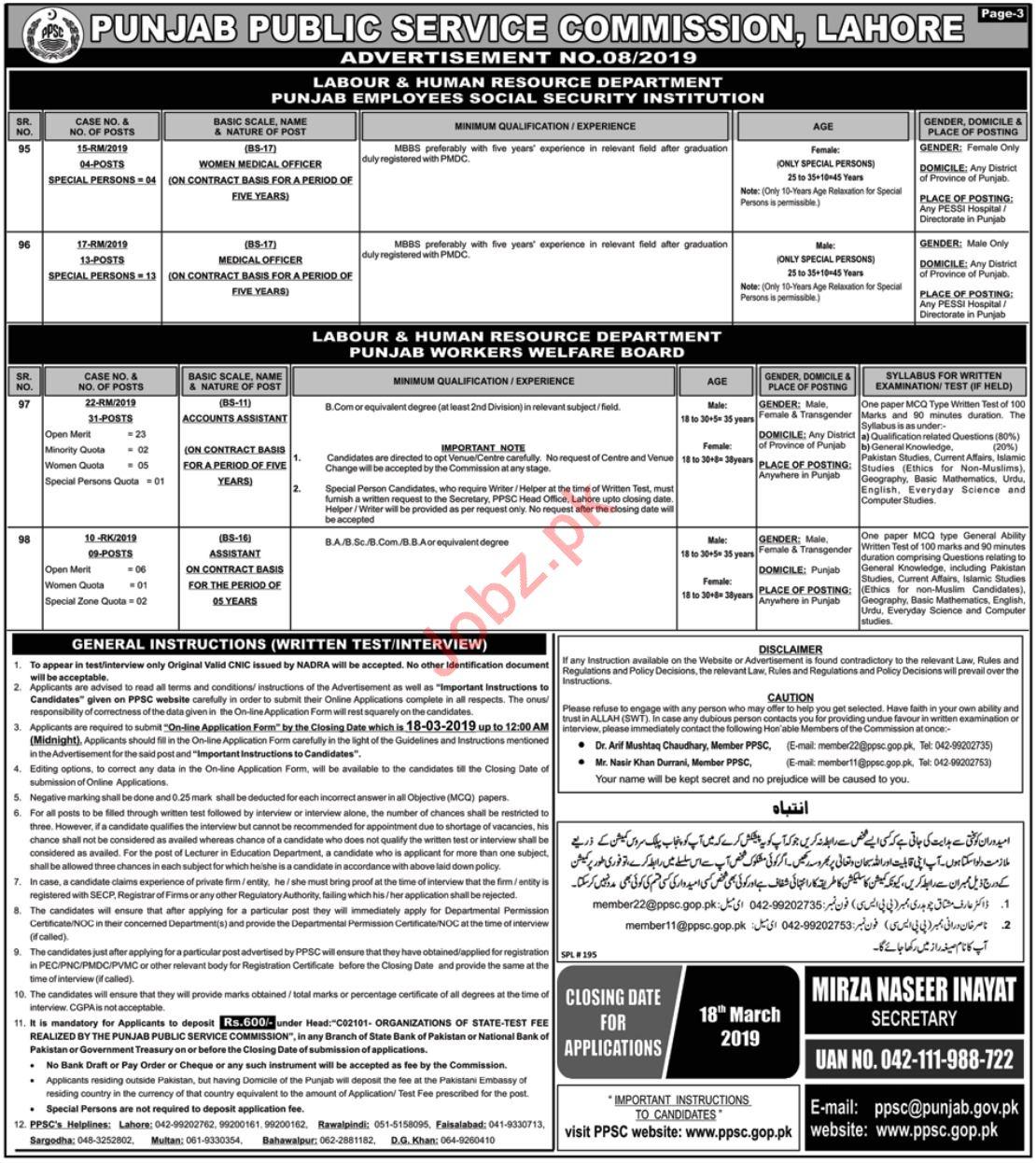 Punjab Public Service Commission PPSC Jobs 2019