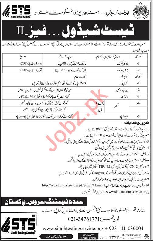 Appellate Tribunal Sindh Revenue Board Clerical Jobs 2019