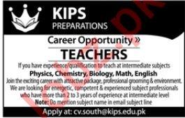 KIPS Preparations Teaching Staff Jobs 2019