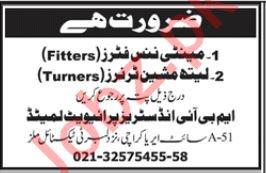Maintenance Fitter & Lathe Machine Turners Jobs 2019