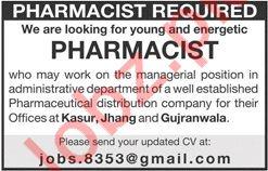 Pharmacists Jobs 2019 in Kasur, Jhang & Gujranwala