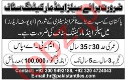 Sales & Marketing Jobs 2019 For Lahore