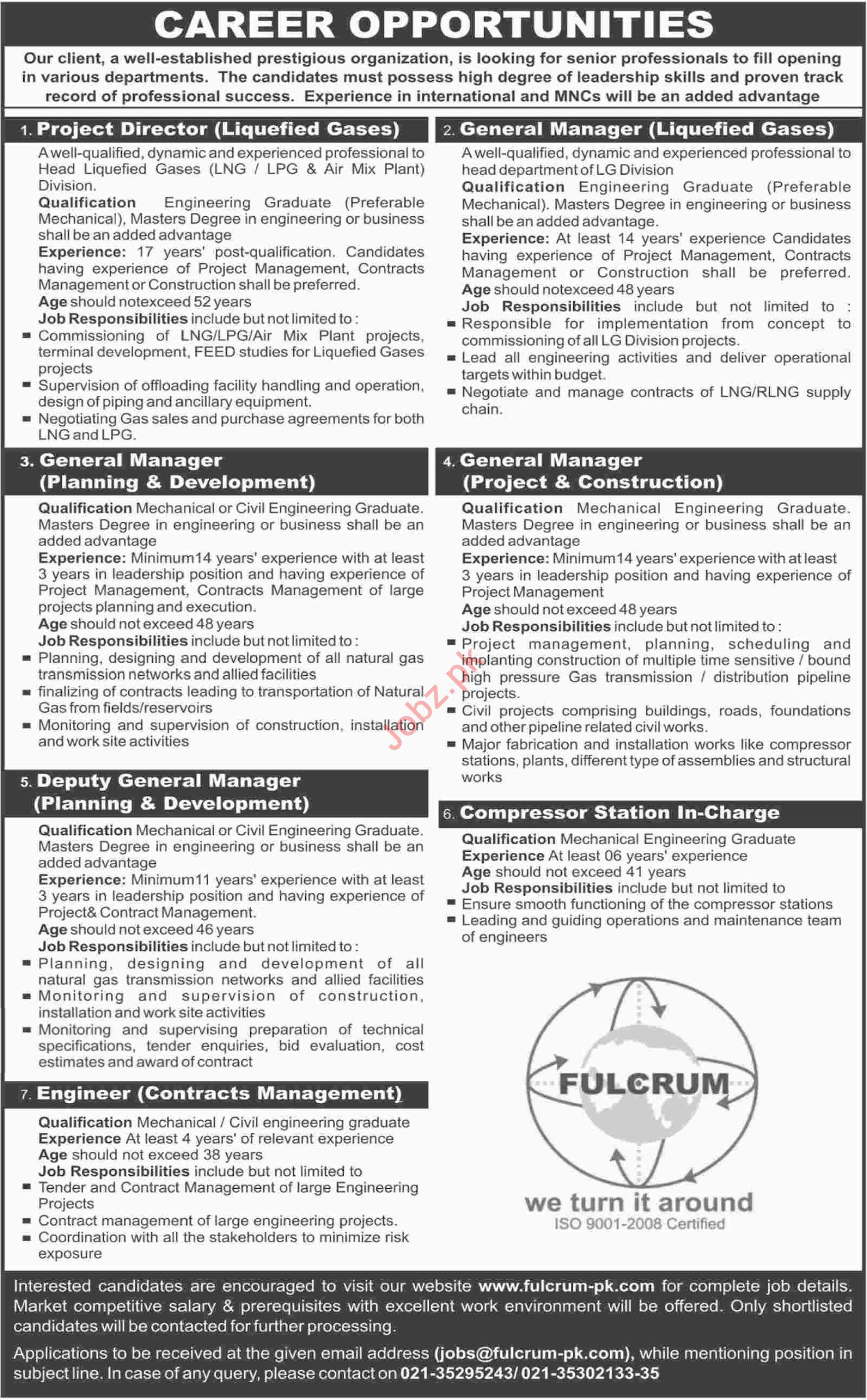Fulcrum Private Limited Jobs 2019 in Karachi