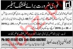 Nishat Linen Lahore Jobs for Finishing Officer