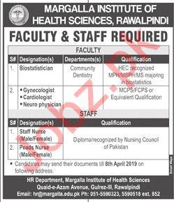 Margalla Institute of Health Sciences Rawalpindi Jobs 2019
