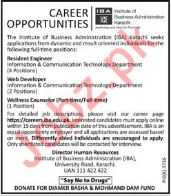 Institute of Business Administration IBA Engineering Jobs