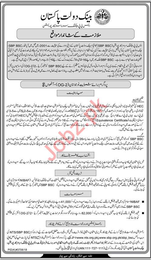 State Bank of Pakistan SBP Bank Officer Jobs 2019
