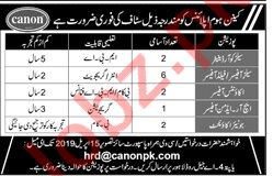 Canon Home Appliances Lahore Jobs 2019 for Sales Officers