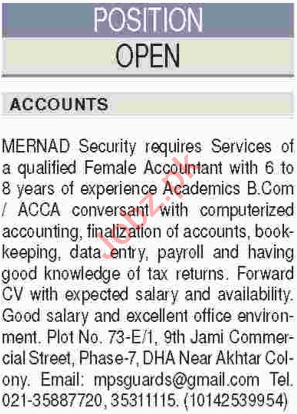 Accountant Job in Karachi