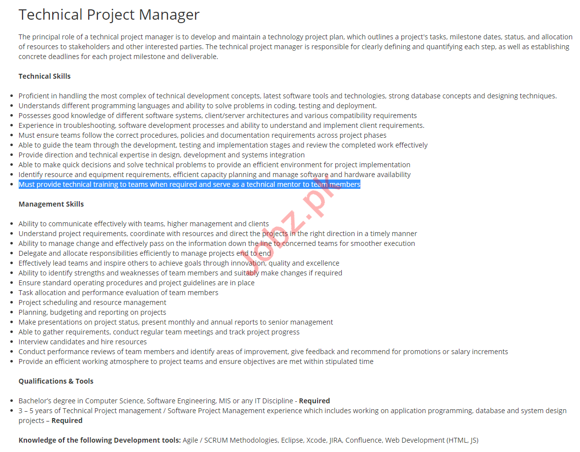 Technical Project Manager Job 2019 in Islamabad