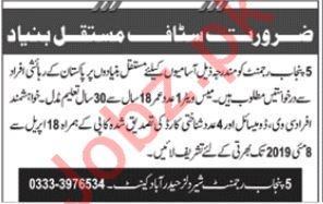 Pak Army 5 Punjab Regiment Jobs 2019 in Hyderabad Cantt