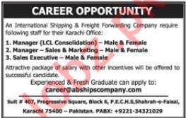 Shipping & Freight Forwarding Company Jobs 2019 in Karachi