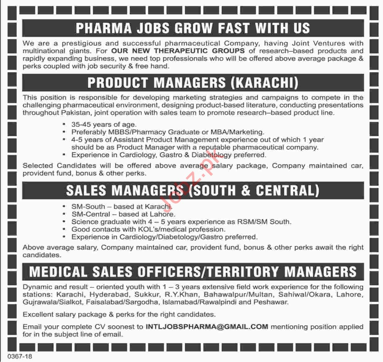Product Managers Jobs in Pharmaceutical Company