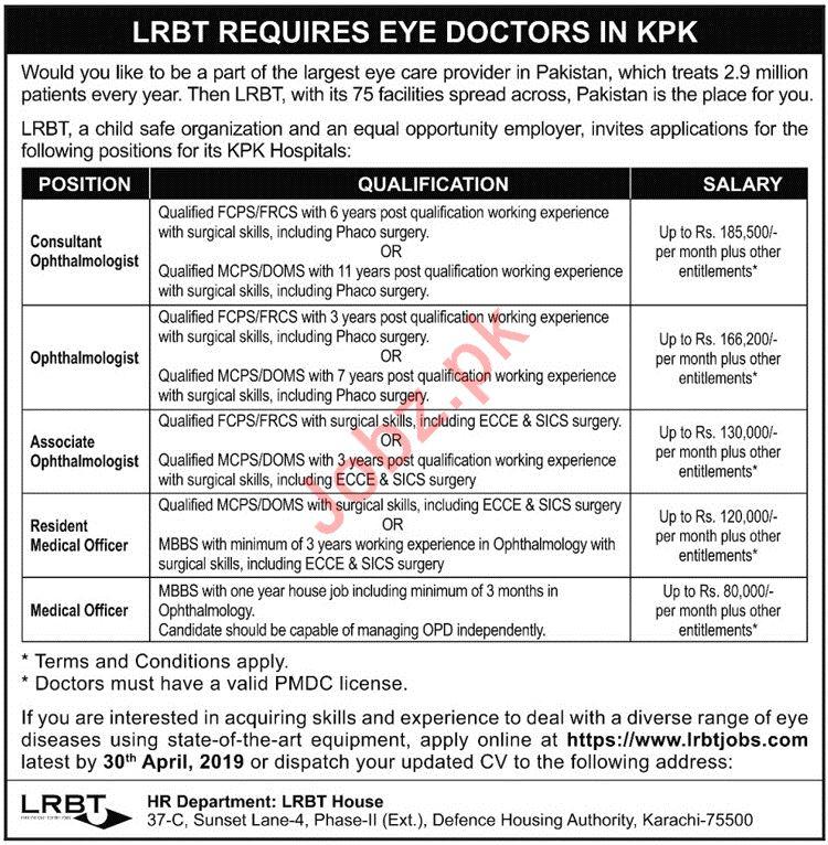 Layton Rahmatullah Benevolent Trust LRBT Doctors Jobs 2019