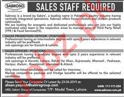 Sales Promotion Officer & Sales Officer Jobs 2019