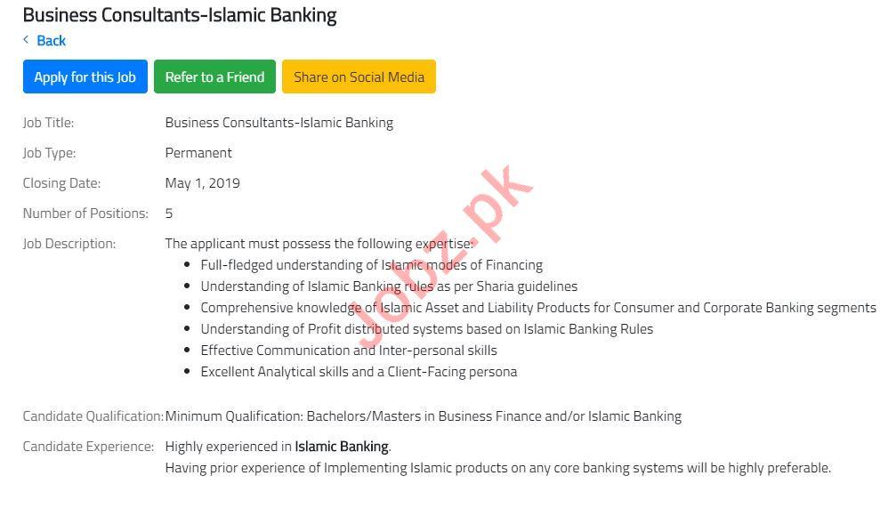 Business Consultant Jobs 2019 in Karachi
