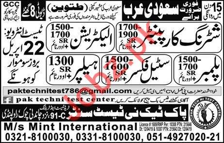 Shattering Carpenter & Electrician Job in Saudi Arabia
