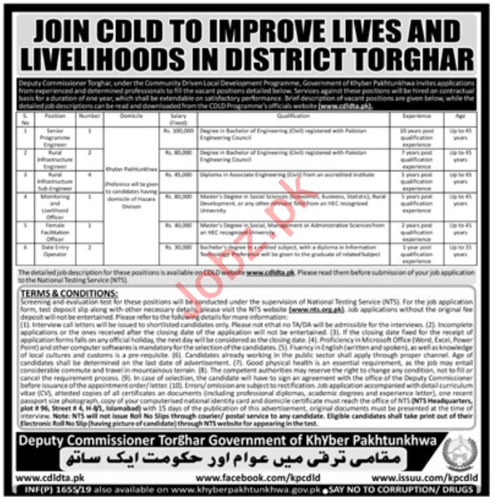 Deputy Commissioner District Office Jobs in Torghar via NTS