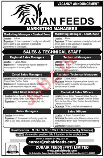 Avian Feeds Management Jobs 2019