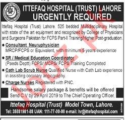 Ittefaq Hospital Trust Lahore Jobs for Medical Officers