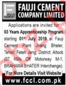 Fauji Cement Company Limited Apprenticeship 2019