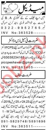 Medical Staff Jobs 2019 in Peshawar