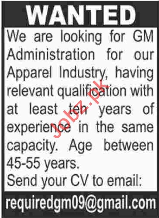 General Manager Administration Job in Karachi