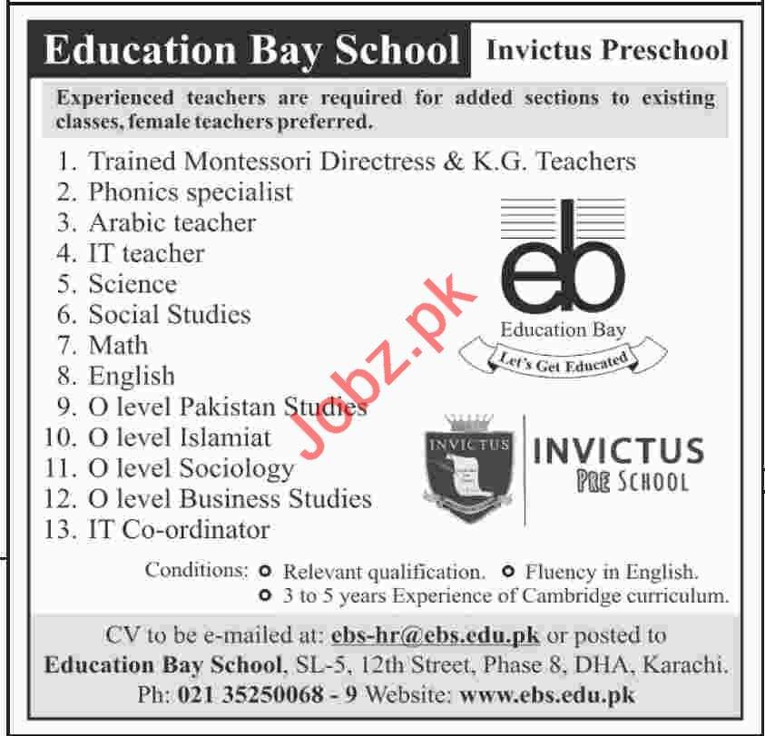 Education Bay School Management Jobs in Karachi