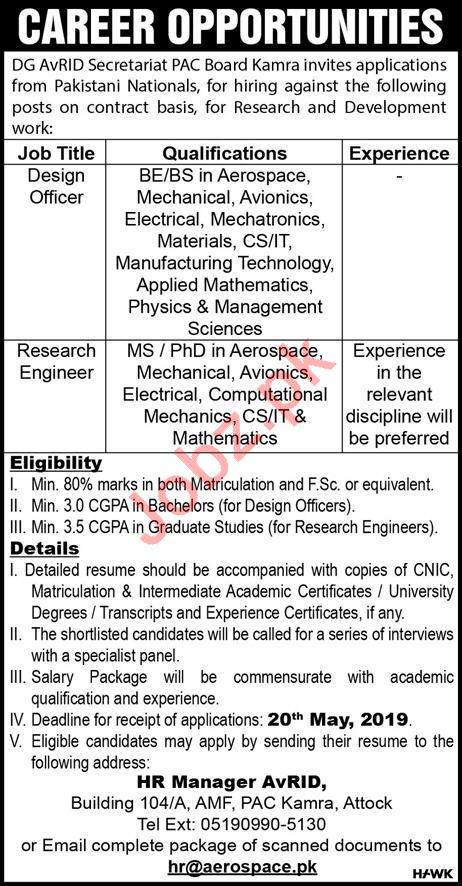 Pakistan Aeronautical Complex PAC Aerospace Jobs 2019