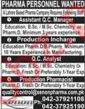 Pharma Personnel Jobs 2019 in Lahore