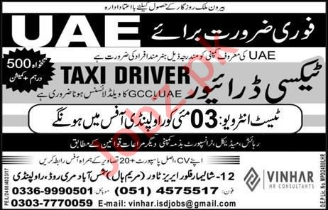 Taxi Driver Job in UAE 2019