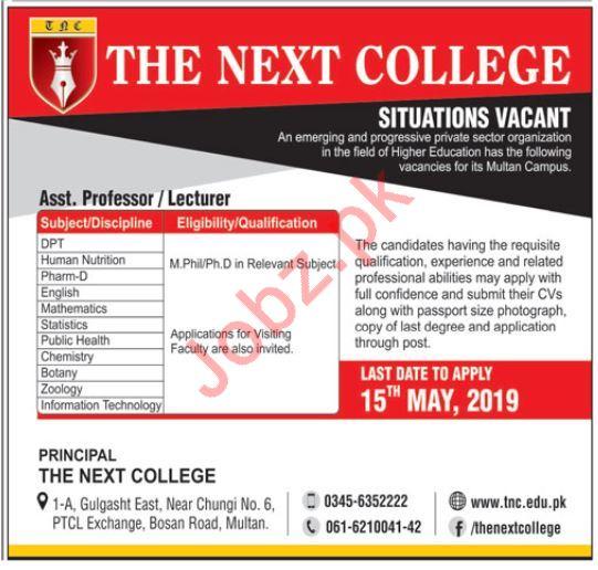 The Next College Assistant Professor Jobs 2019