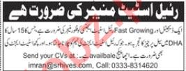 Real Estate Manager Job 2019 in Lahore