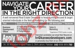 Kaneez Developers Lahore Jobs 2019 for Development Officer